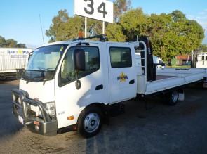 3 Tonne Dual Cab Tray with Hiab